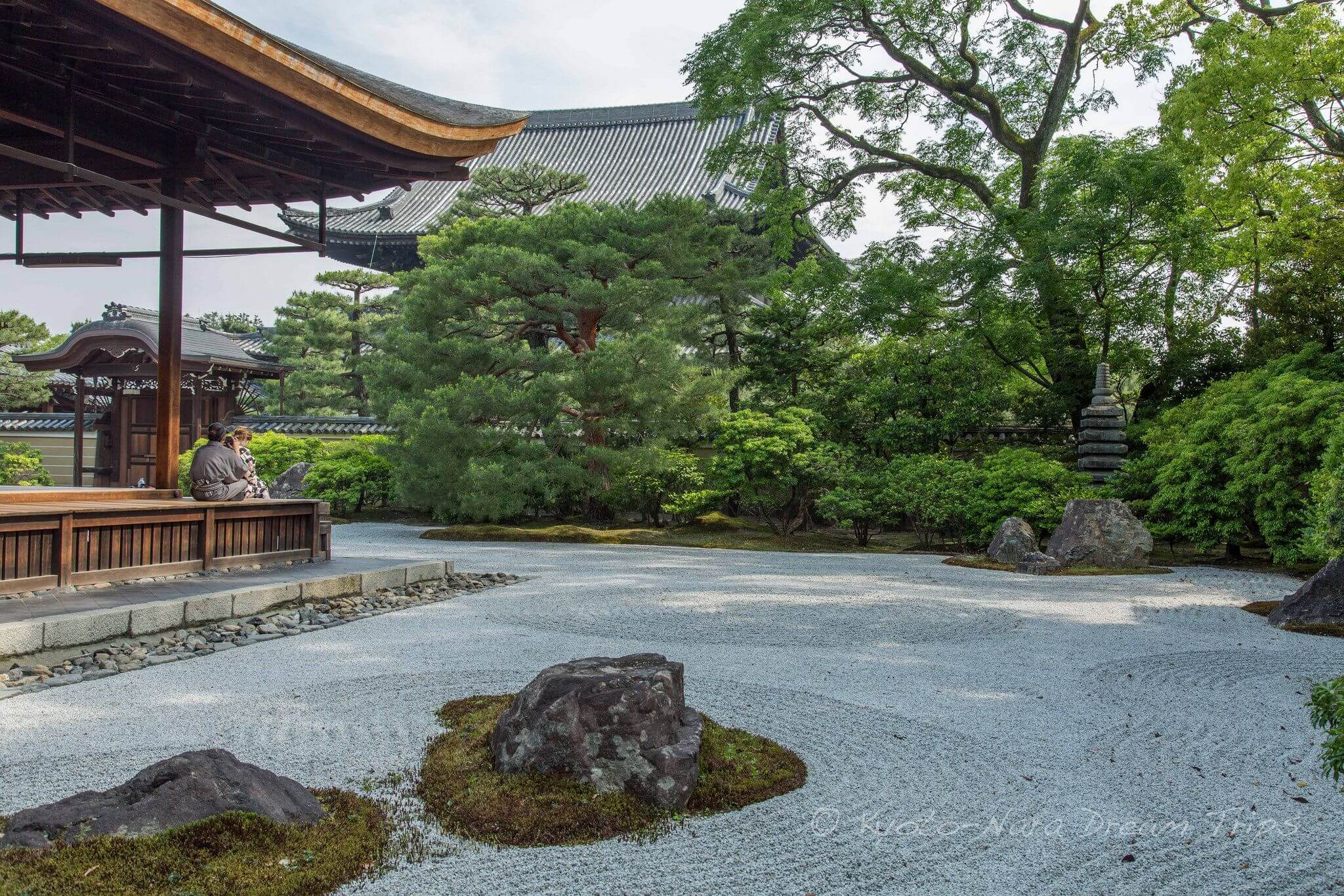 Kennin Ji templom zen kőkert - Japán, Kyoto