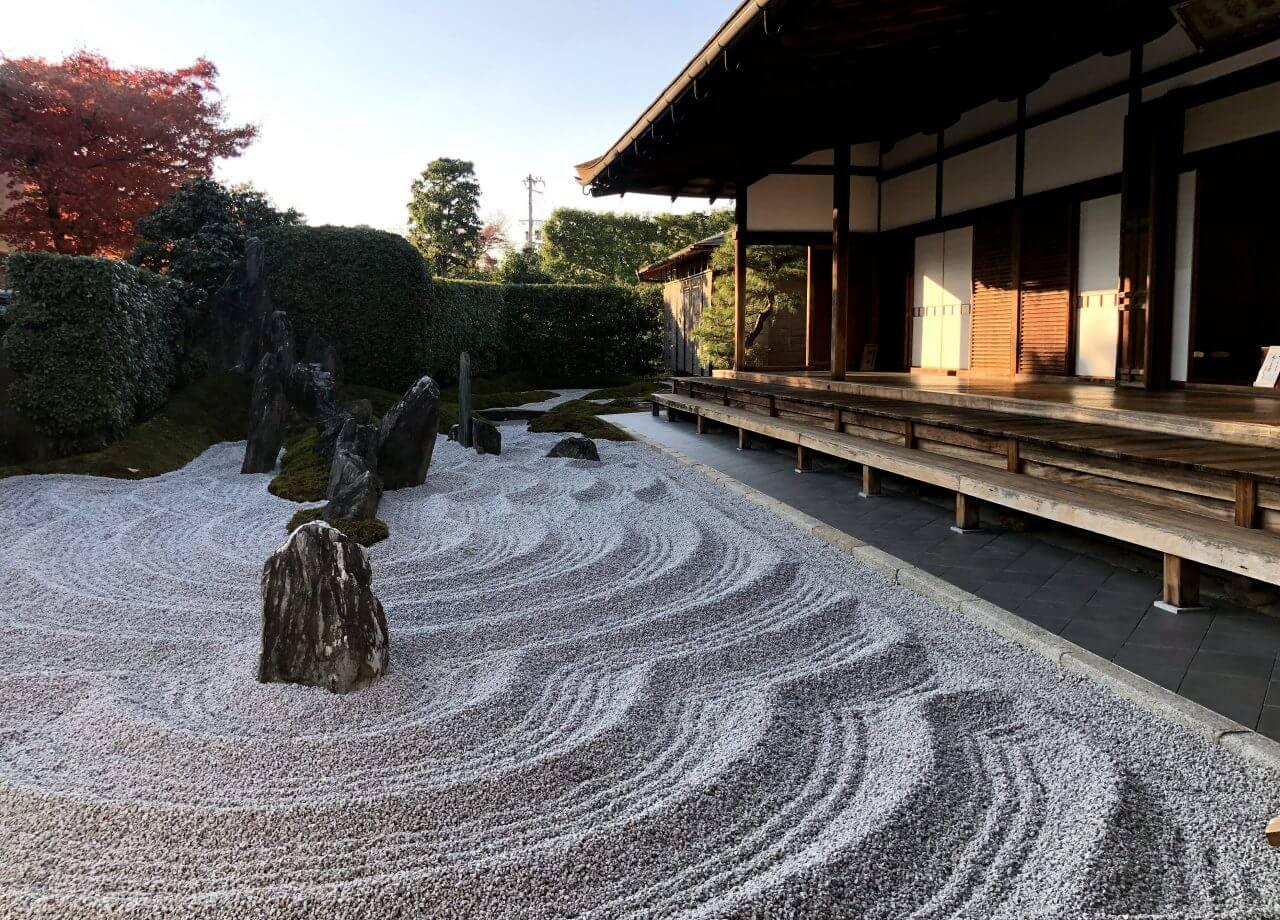 Zuiho templom zen kőkert - Japán Kyoto